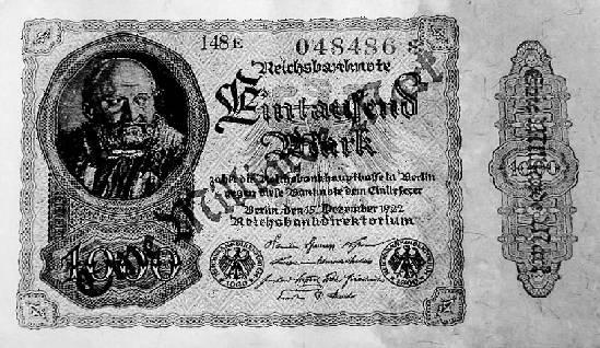 Денежная реформа 1923 германия